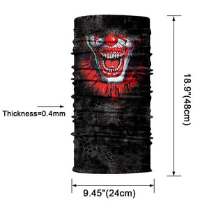 Magic Scarf-Balaclava for Neck / Ghost Skull Face Cover / Biker Bandanas Headwear #11