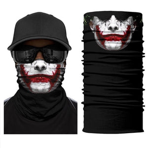 Magic Scarf-Balaclava for Neck / Ghost Skull Face Cover / Biker Bandanas Headwear #12