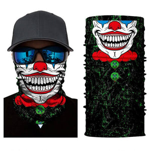 Magic Scarf-Balaclava for Neck / Ghost Skull Face Cover / Biker Bandanas Headwear #13