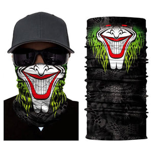 Magic Scarf-Balaclava for Neck / Ghost Skull Face Cover / Biker Bandanas Headwear #14