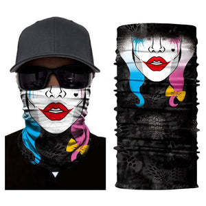 Magic Scarf-Balaclava for Neck / Ghost Skull Face Cover / Biker Bandanas Headwear #15