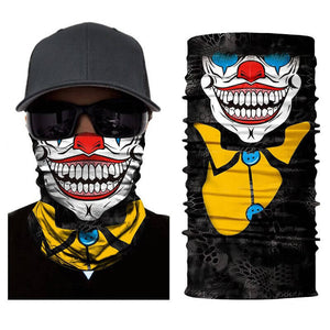 Magic Scarf-Balaclava for Neck / Ghost Skull Face Cover / Biker Bandanas Headwear #16