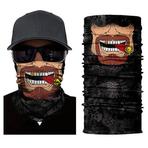 Magic Scarf-Balaclava for Neck / Ghost Skull Face Cover / Biker Bandanas Headwear #17