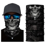 Magic Scarf-Balaclava for Neck / Ghost Skull Face Cover / Biker Bandanas Headwear #9