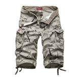 Men Cargo Cotton Shorts with Side Pockets / Alternative Fashion Camouflage Multi-Pocket Pants - HARD'N'HEAVY