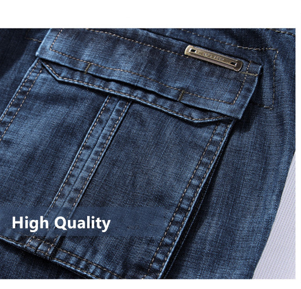 Men Cargo Jeans / Casual Military Multi-pocket High Quality Trousers / Grunge Outfits - HARD'N'HEAVY