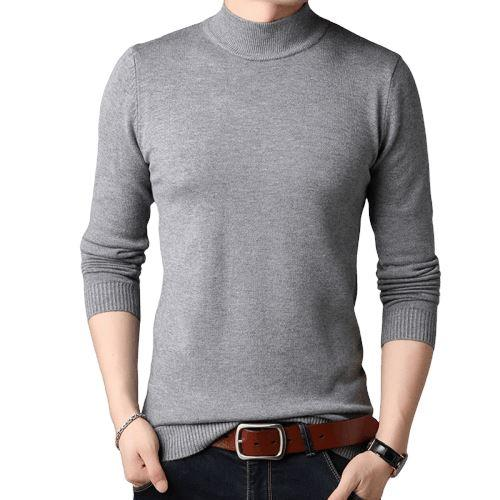 Men Cashmere Sweaters Full Sleeve Pull Homme Solid Color Pullover Sweater Men's Tops - HARD'N'HEAVY