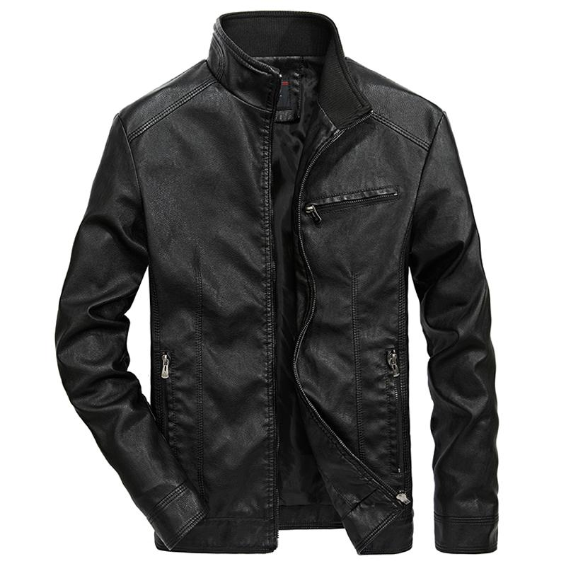 Men Casual Motorcycle Jackets / Biker Leather Jacket Bomber / Pilot Rave Outfits