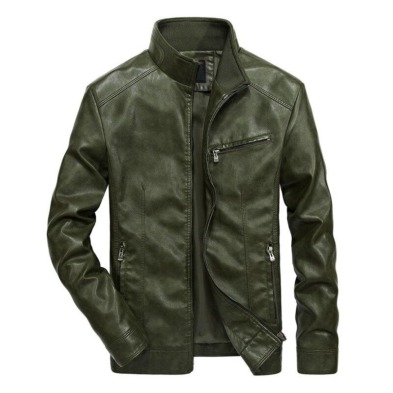 Men Casual Motorcycle Jackets / Biker Leather Jacket Bomber / Pilot Rave Outfits - HARD'N'HEAVY