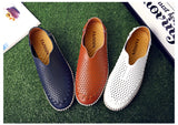 Men Shoes Leather Loafers / Casual Moccasins Style / Soft Slip On - HARD'N'HEAVY