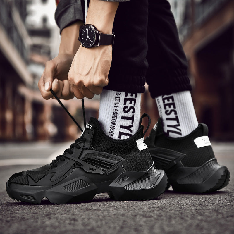 Men's Chunky Sneakers on a High Platform / Rocker Shoes / Male Aesthetic Outfits - HARD'N'HEAVY