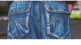 Men's Loose baggy / Short Skateboard jeans / rave outfits - HARD'N'HEAVY