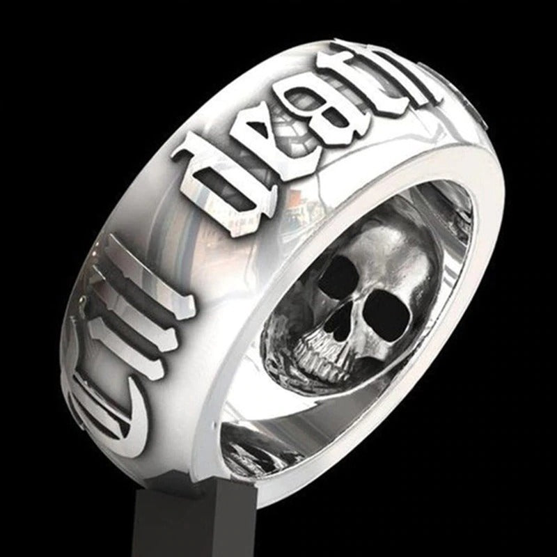 Men's Punk Skull Ring / Men & Women Alternative Fashion Gothic Jewelry / Cool rings - HARD'N'HEAVY