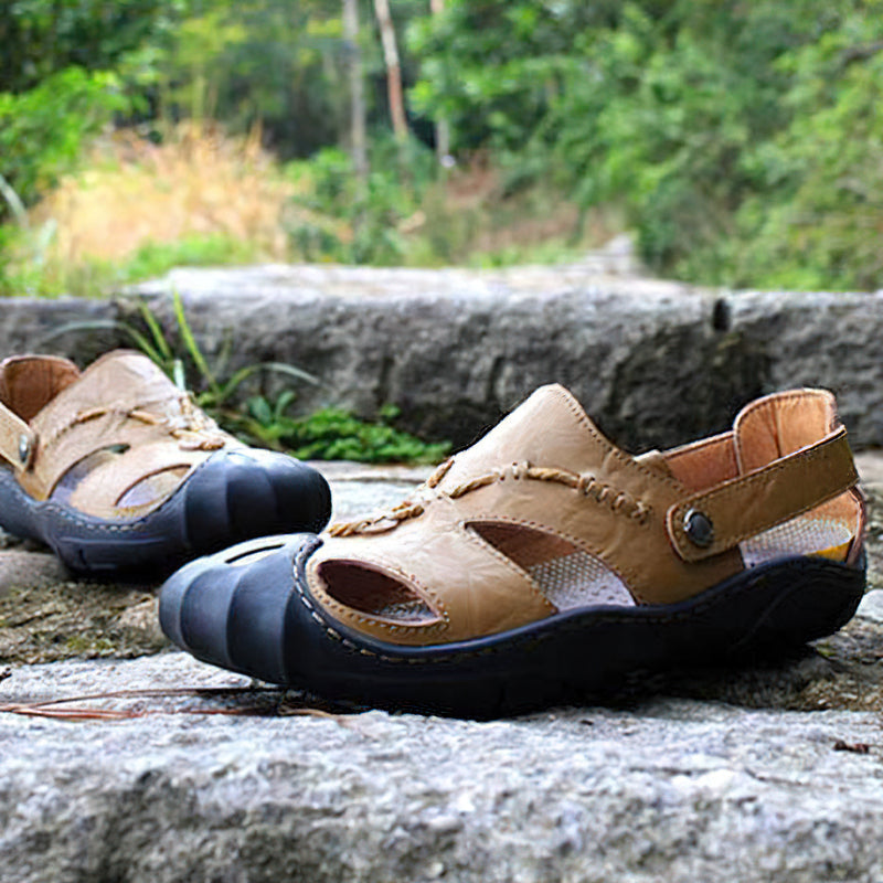 Men's Soft PU Leather Sandal in Roman Style / Comfortable Casual Men's Shoes