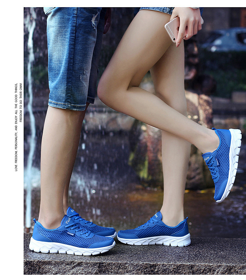 Mesh Unisex Sneakers / Summer Casual Shoes for Men in Alternative Fashion - HARD'N'HEAVY