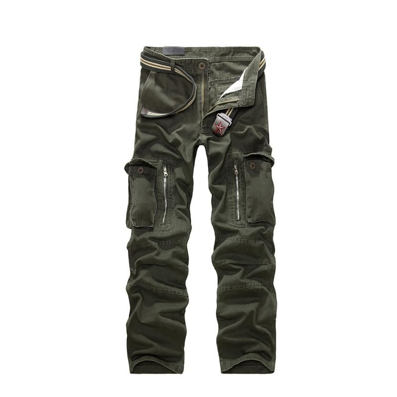 Military Cargo Pants / Men Camouflage Cotton Trousers / Punk Clothing - HARD'N'HEAVY