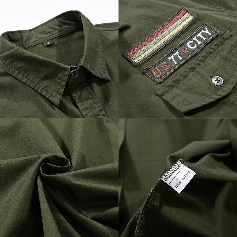 Military Shirts in Alternative Fashion Men Cotton Short Sleeve Casual Slim Fit Air Force One - HARD'N'HEAVY