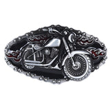 Motorcycle and Flame Belt Buckle / Metal Buckles For Belts in Biker Style - HARD'N'HEAVY