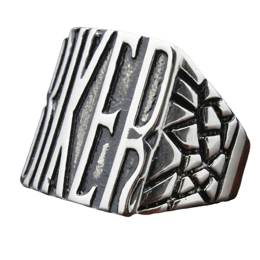 Motorcycle Road Trip Biker Ring / Stainless Steel Silver Color Jewelry - HARD'N'HEAVY
