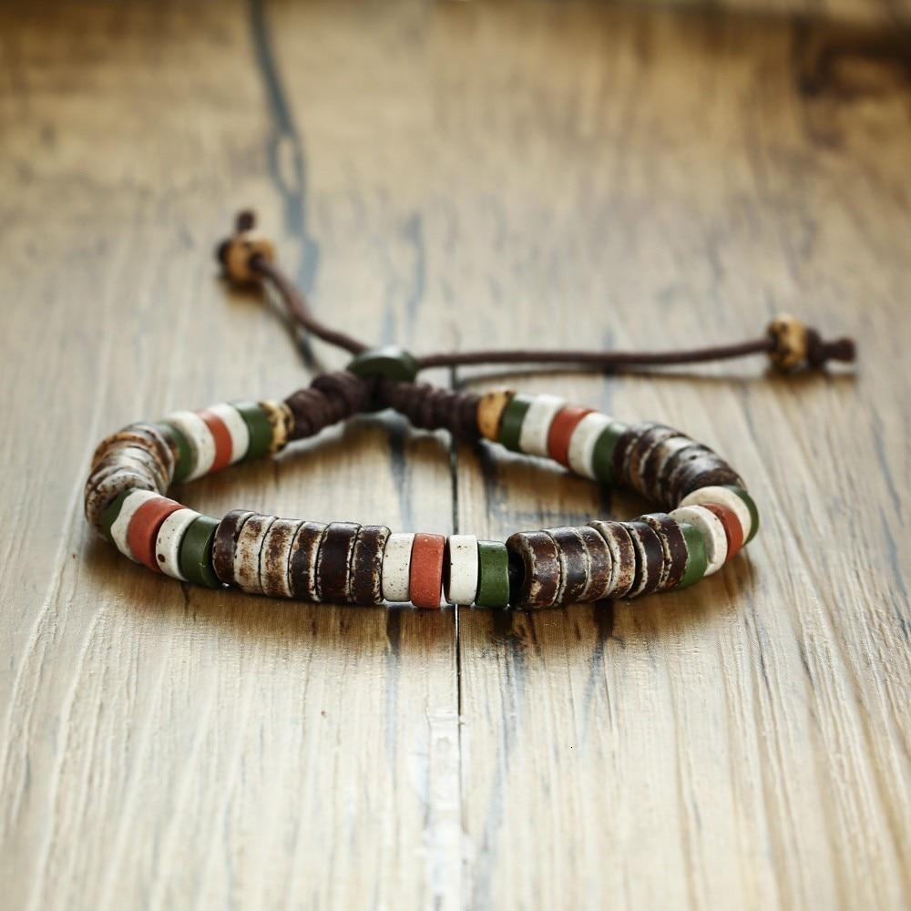 Natural Stone Beaded Bracelets for Men and Women / Adjustable Length Multi Color Beads - HARD'N'HEAVY