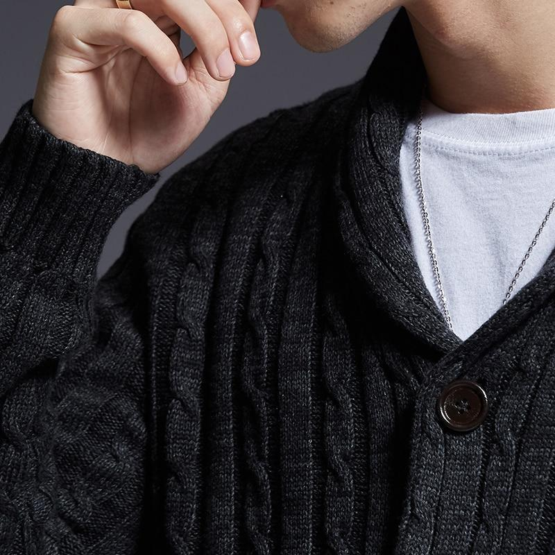 New Alternative Fashion Brand Sweater Men Cardigan Thick Slim Fit - HARD'N'HEAVY