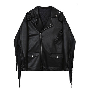 Niche Black Men's Jackets With Thick Cotton Liner / Comfortable Genuine Leather Jacket