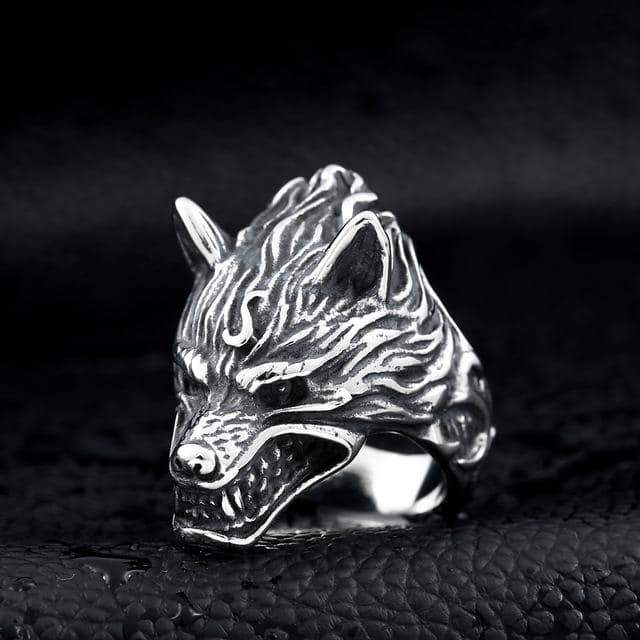 Nordic Wolf Viking Ring / Rock Style Jewelry for Men and Women - HARD'N'HEAVY