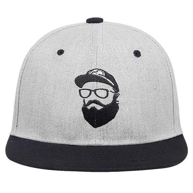 Rock Style Cap with Bearded Man Embroidery / Vintage Character Men Women hats / Alternative snapback - HARD'N'HEAVY