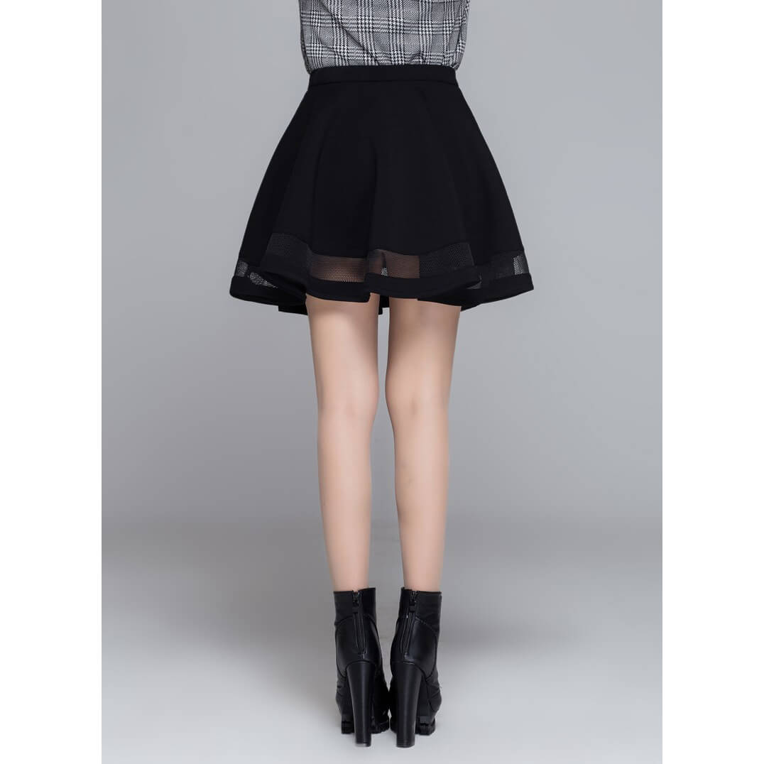 Pleated skirt for Rock Chick / Goth women skirts / Aesthetic Outfits - HARD'N'HEAVY