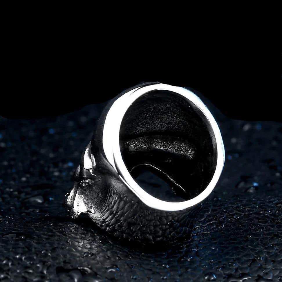 Punisher Skull Ring / Rock style Stainless Steel Fashion Jewelry - HARD'N'HEAVY