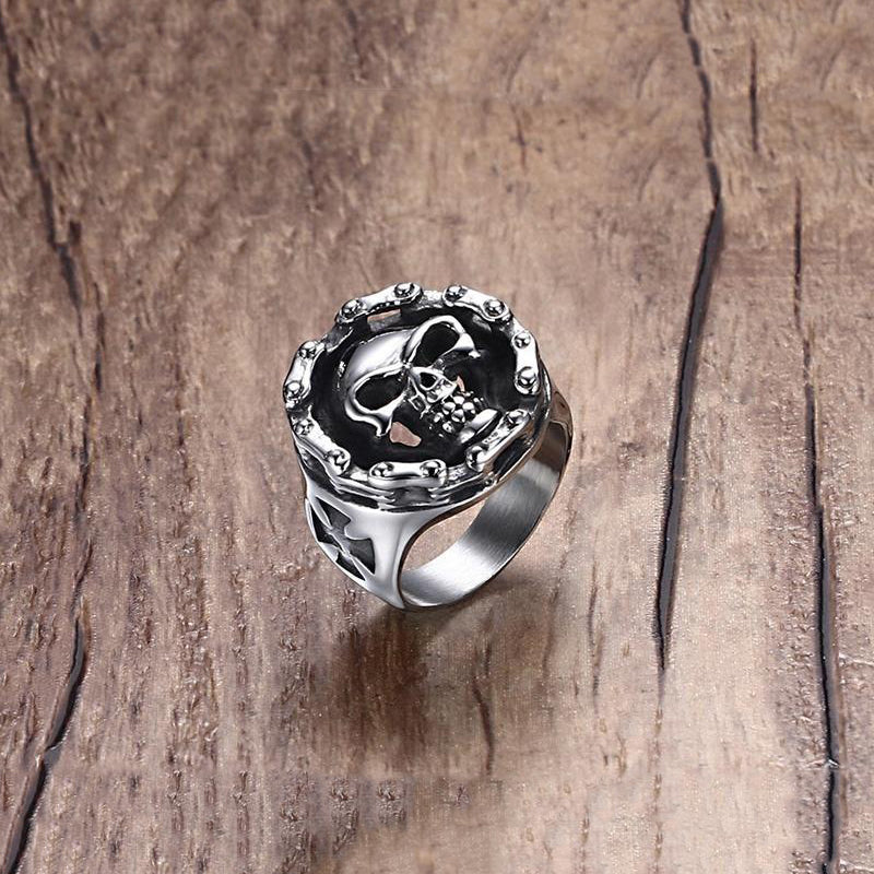 Byker Style Finger Ring / Alternative Fashion Gift / Steel Men's Skull rings - HARD'N'HEAVY