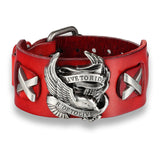 Punk Style Rider Eagle Genuine Leather Bracelet / Ride to live Charm bracelets & bangles - HARD'N'HEAVY