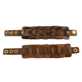 Retro Genuine Leather Belt Wristband / Bangle Snaps Fastener Cuff Bracelet / Alternative Accessories - HARD'N'HEAVY