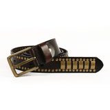 Rock Belts Geometry Pattern for Men and Women / Riveted Decorative Belts - HARD'N'HEAVY