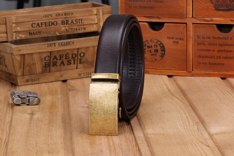 High Quality fibre leather automatic buckle Belt / Alternative fashion Accessory - HARD'N'HEAVY