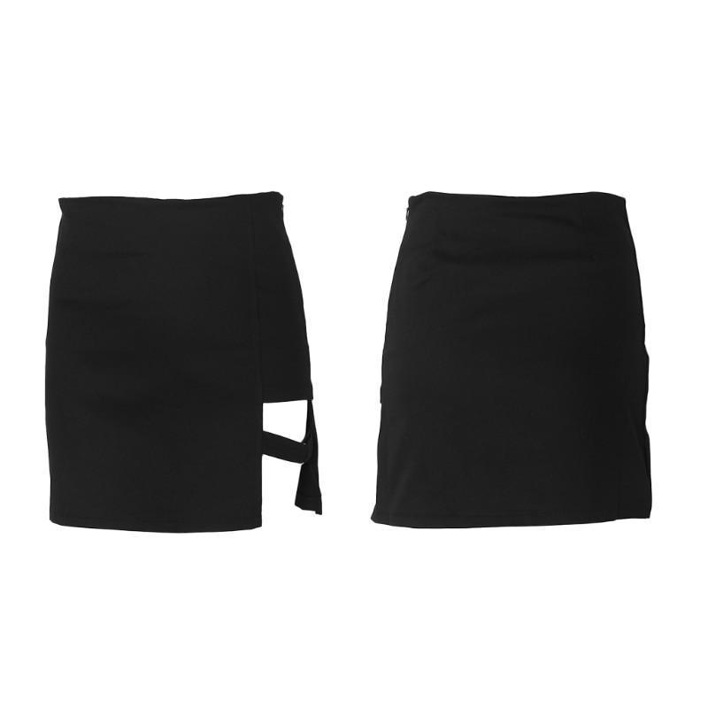 Rock Style Black Pencil Mini Skirt / Hip Skirts in Alternative Fashion - HARD'N'HEAVY