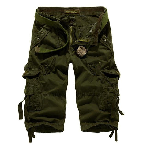 Rock Style Camouflage Loose Cargo Shorts / Men capri shorts - HARD'N'HEAVY