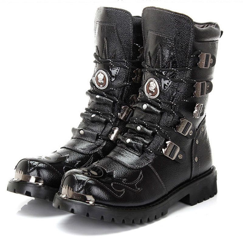 Rock Style Combat Boots / PU Steampunk Boots / Rave Outfits - HARD'N'HEAVY