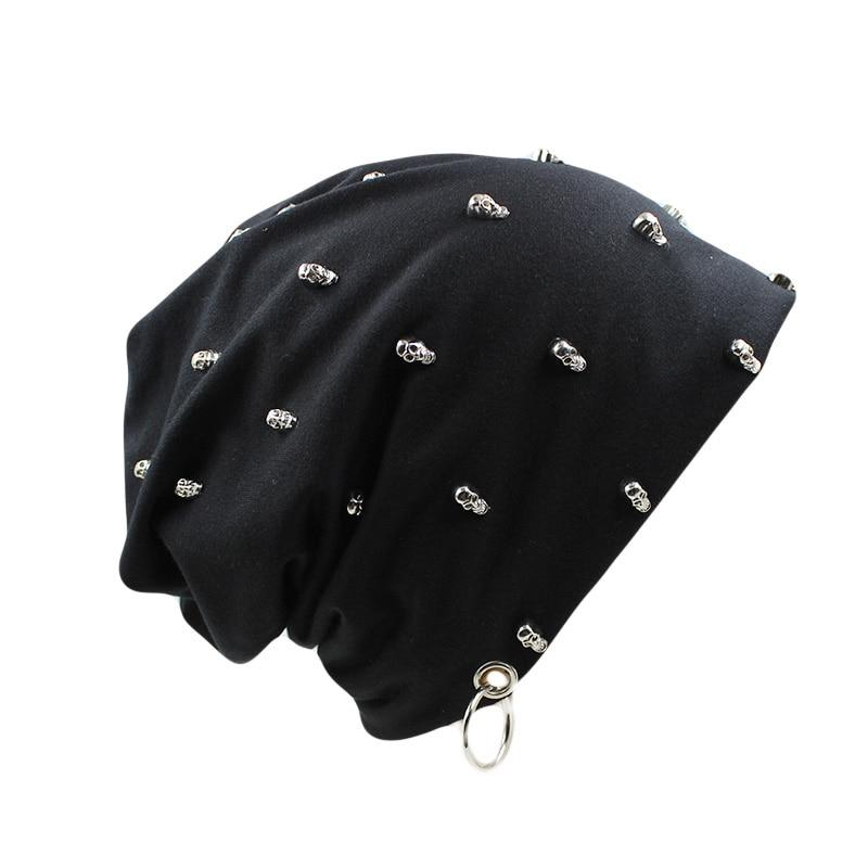 Rock Style Hat With Skulls and Hoop / Rave Outfits / Punk Clothing - HARD'N'HEAVY