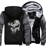 Rock Style Hoodie with Skull Print for Men / Alternative style outfits - HARD'N'HEAVY