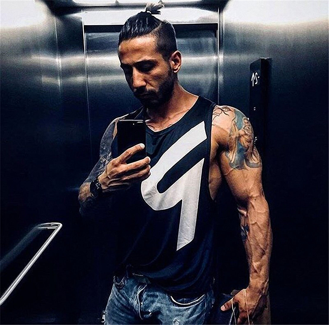 Rock Style Men Tank Tops Breathable High Quality Vest Bodybuilding Singlet Fitness Sleeveless Vest - HARD'N'HEAVY