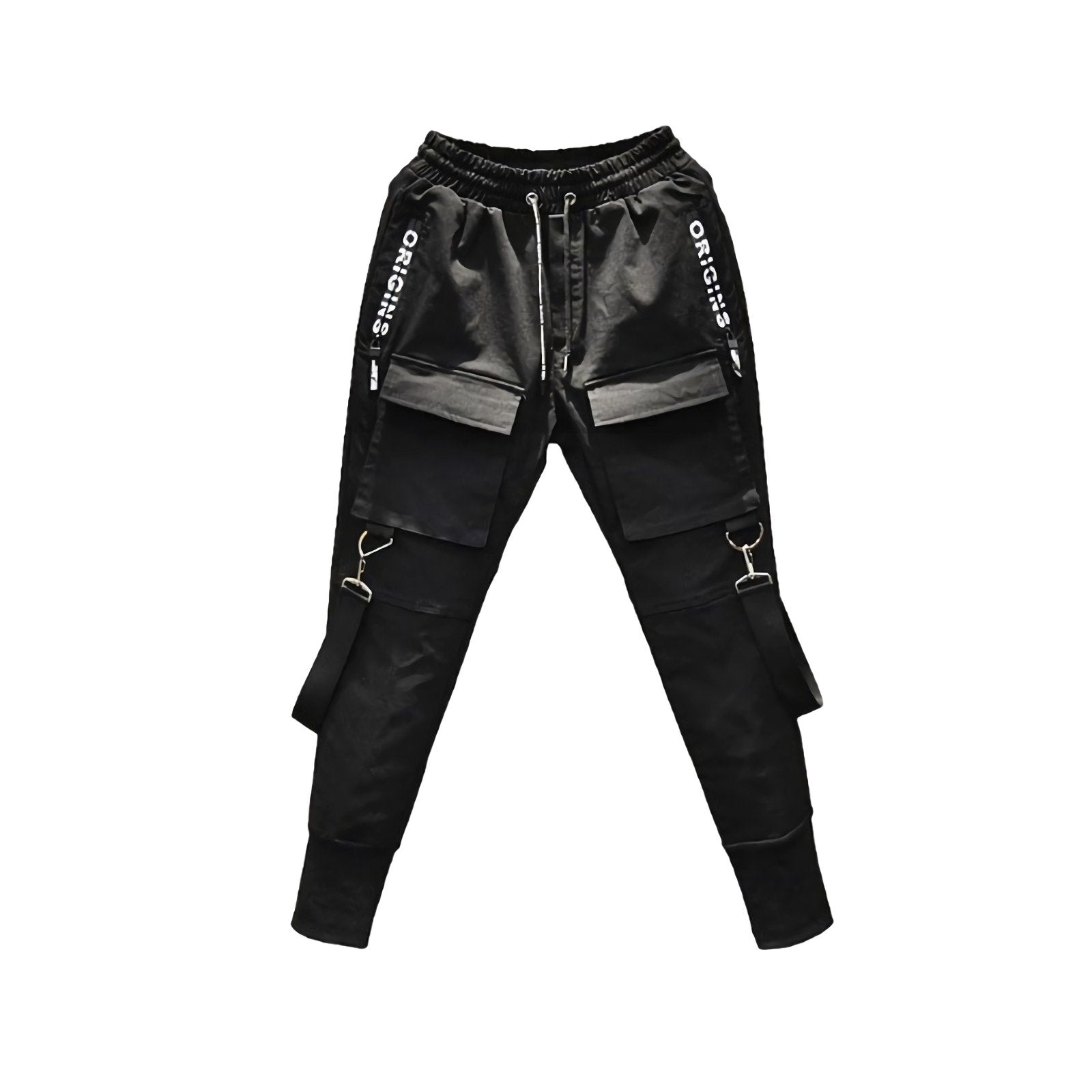 Rock Style Pencil Pants With Side Pockets / Rave Outfits & Punk Clothing