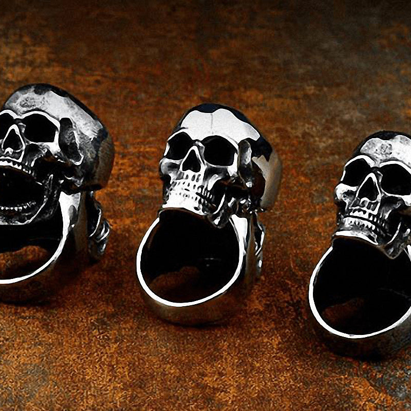 Rock Style Skull Ring / Unique Cool Stainless Steel Jewelry - HARD'N'HEAVY