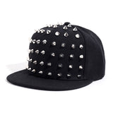 Rock Style Snapback with Spikes / Studded Spiky Punk Hat / Rivets Baseball Cap - HARD'N'HEAVY