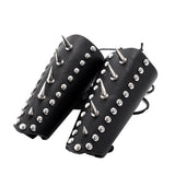 Rock Style Stainless Steel Rivet Genuine Leather Wrist Strap / Vintage Protection Bracelet - HARD'N'HEAVY