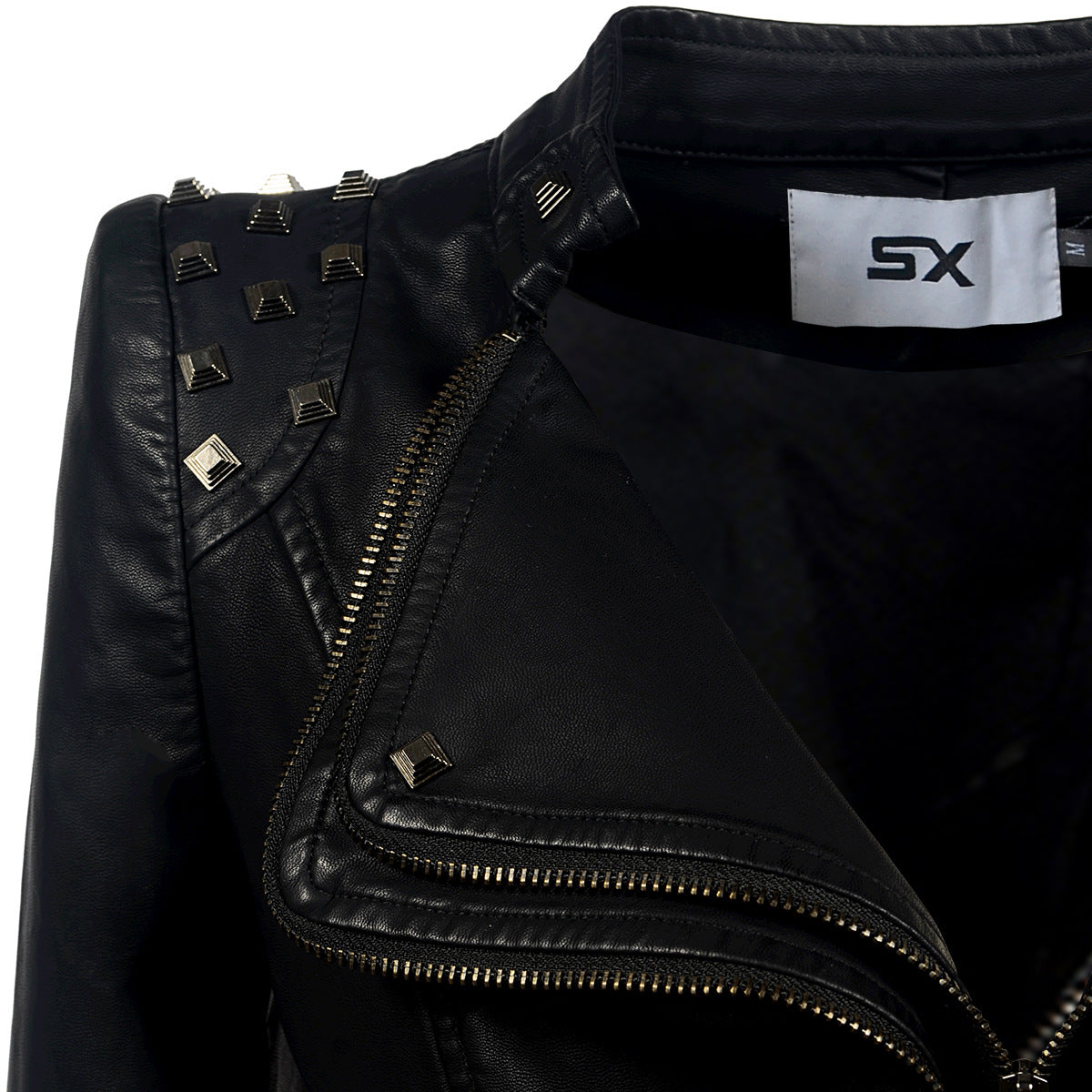 Rocker Chic Clothing / Studded Leather Jacket for Women / Black Motorcycle Rock Style - HARD'N'HEAVY