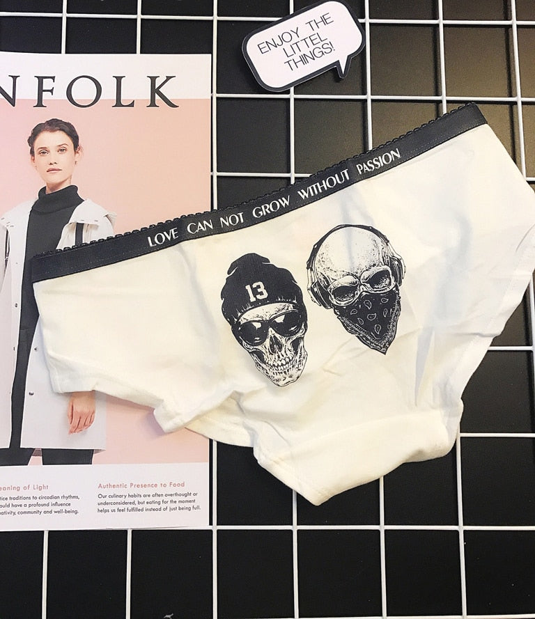 Rocker Chic Style Clothing / Sexy Women's Underwear with Skull Print - HARD'N'HEAVY