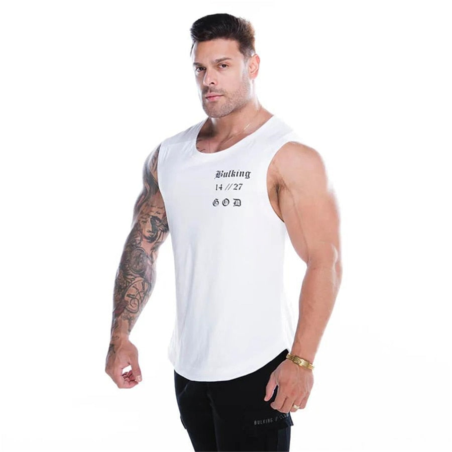 Rocker Tank Top with cross / Fitness Singlets & Gyms Clothing / Exercise workout sweatshirt - HARD'N'HEAVY