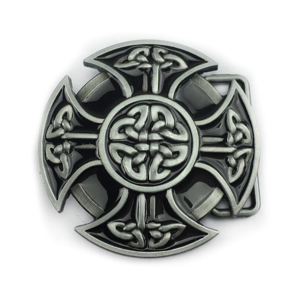 Round Celtic Cross Knot Belt Buckle For Men and Women / Alternative Fashion Accessories - HARD'N'HEAVY