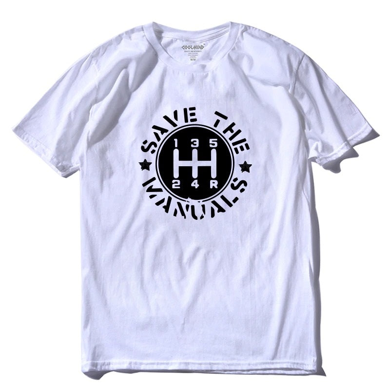 Save The Manuals / Women's graphic tees for Car Fans/ Short sleeve tee shirts - HARD'N'HEAVY